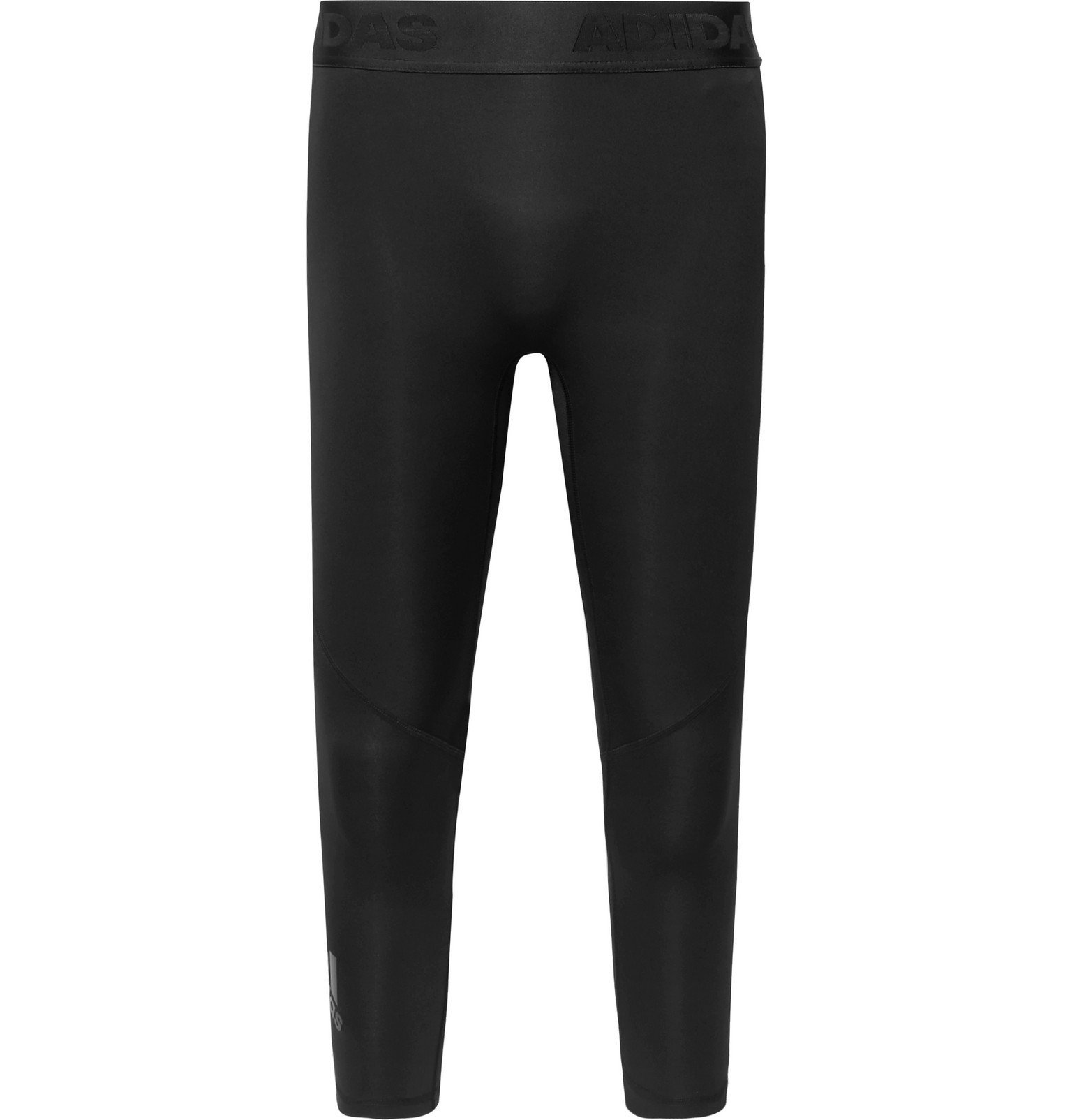Photo: Adidas Sport - Alphaskin Mesh-Panelled Climacool 3/4 Compression Tights - Black