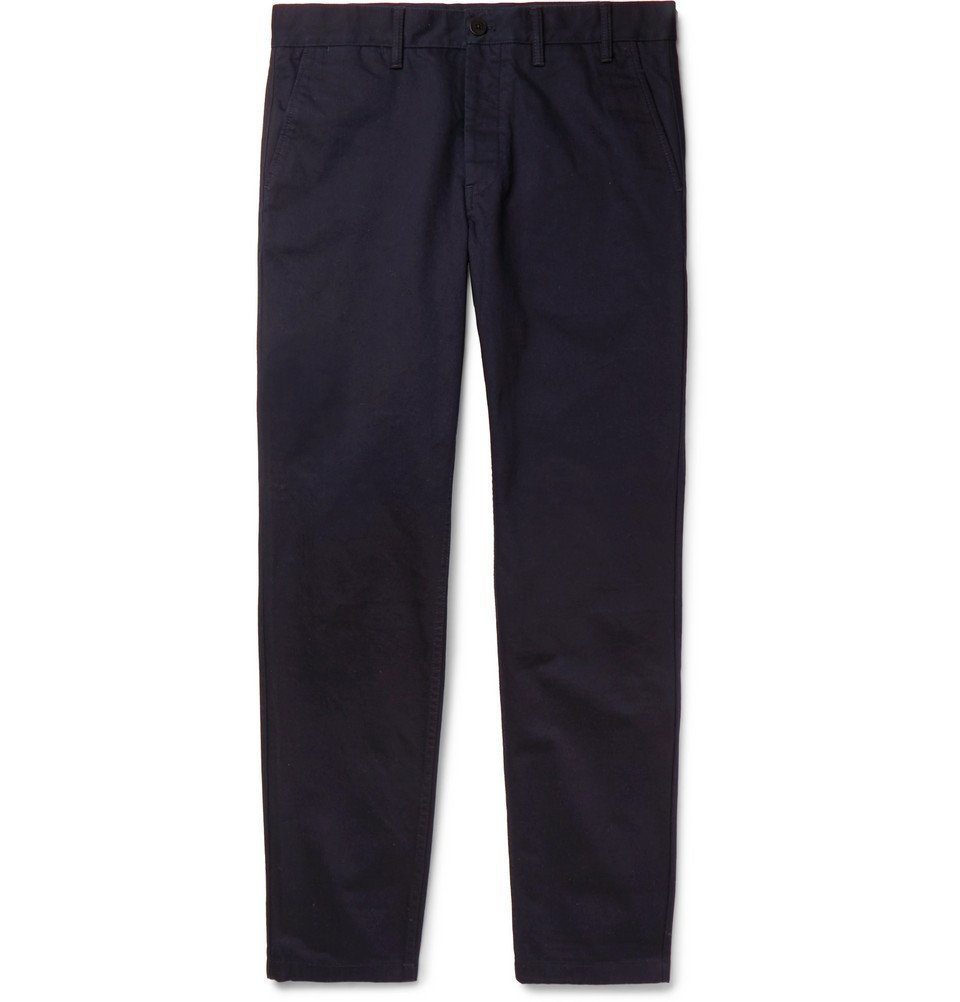 Photo: Norse Projects - Aros Heavy Tapered Cotton-Twill Chinos - Navy