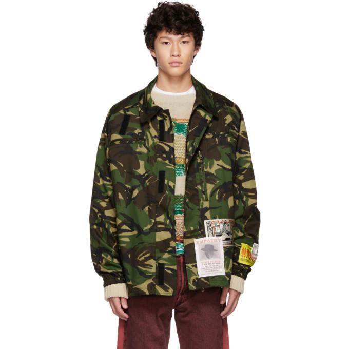 Martine Rose Green Camo Jacket