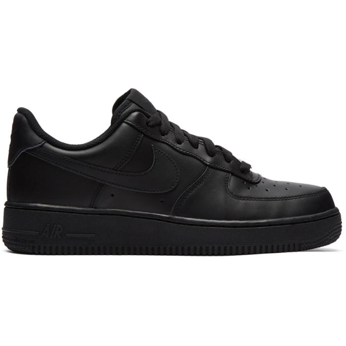Photo: Nike Black Air Force 1 07 Sneakers