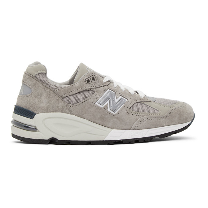 Photo: New Balance Grey Made In US 990v2 Sneakers