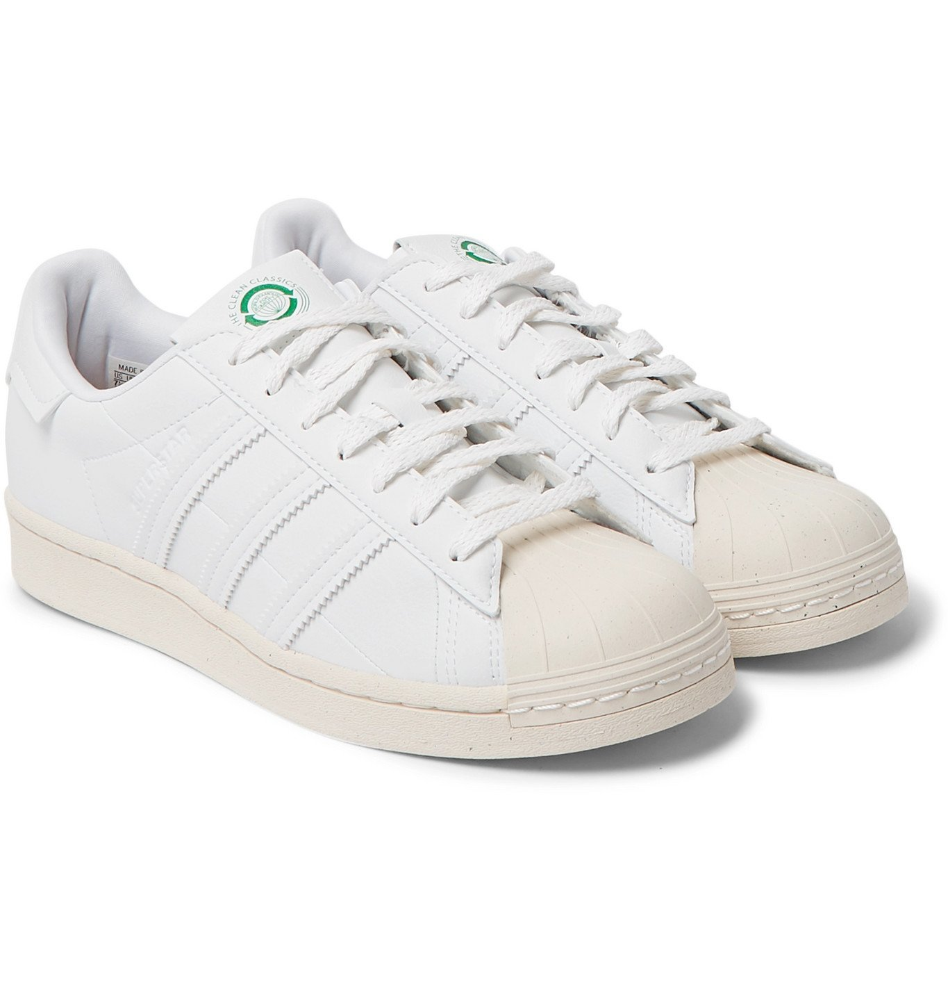 Photo: adidas Originals - Clean Classics Superstar Vegan Leather Sneakers - White