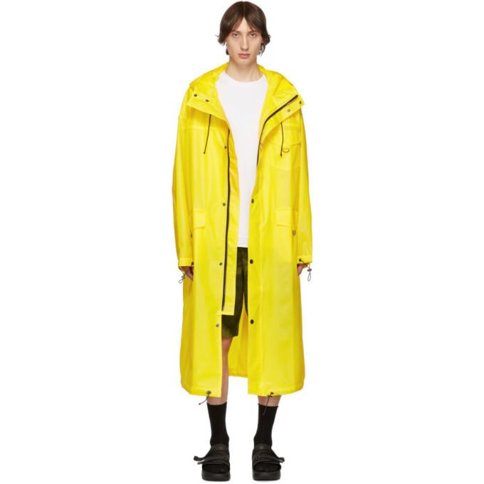 Photo: Pyer Moss Yellow Logo Raincoat