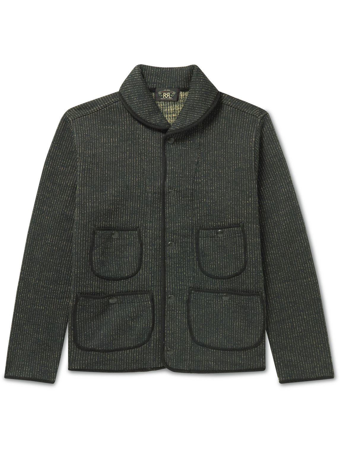 Photo: RRL - Shawl-Collar Cotton-Blend Cardigan - Black