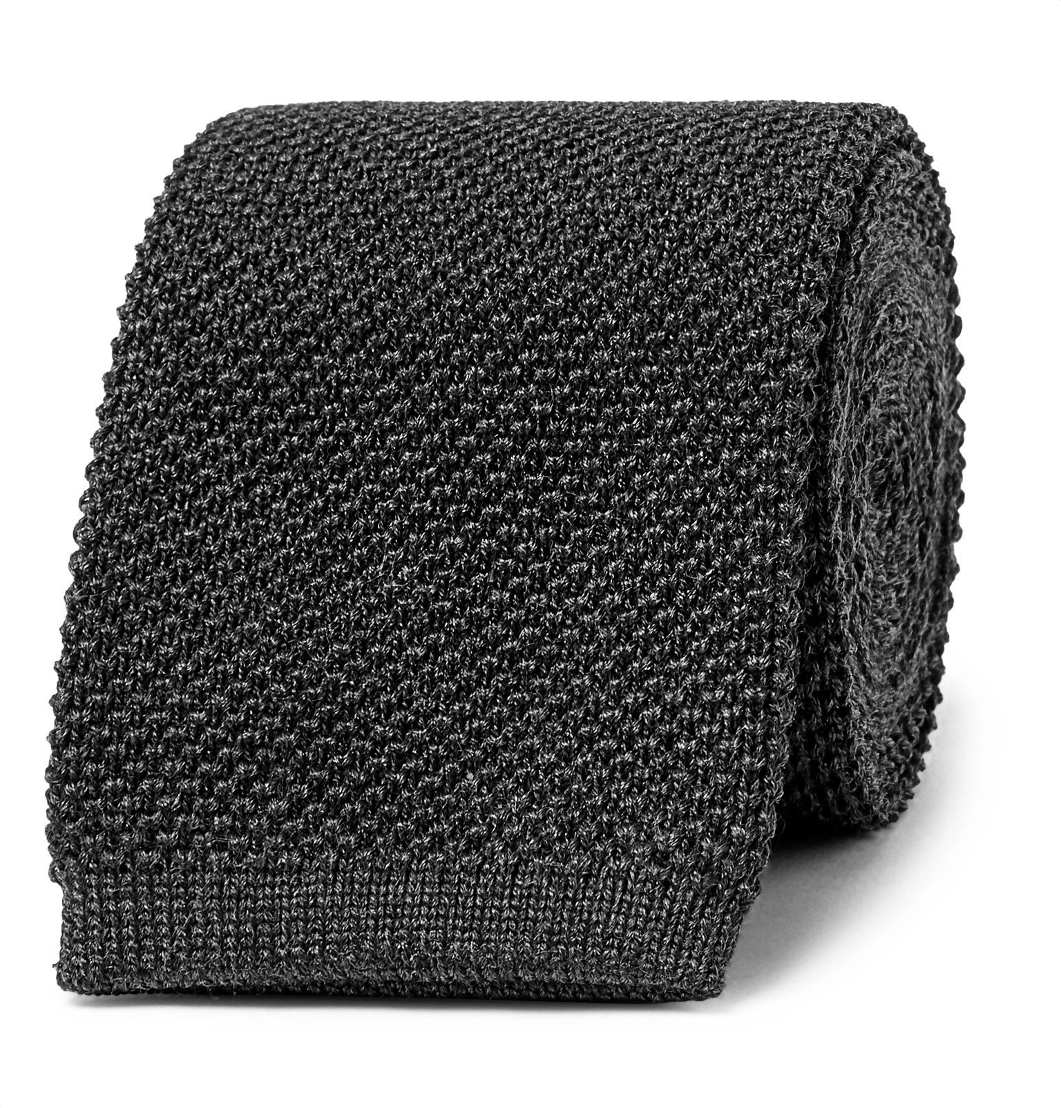 Photo: The Row - 6cm Romeo Knitted Silk Tie - Gray