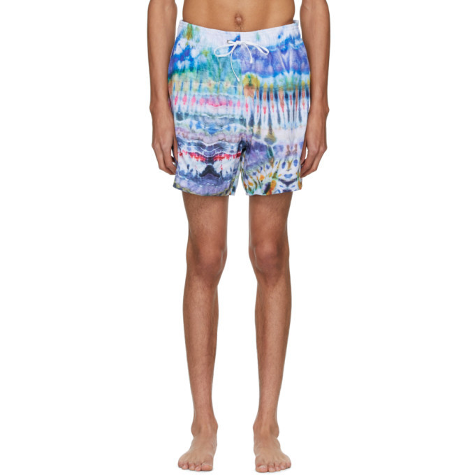 Photo: Amiri Multicolor Tie-Dye Swim Shorts