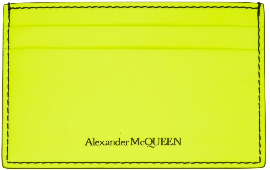 Photo: Alexander McQueen Yellow Logo Card Holder