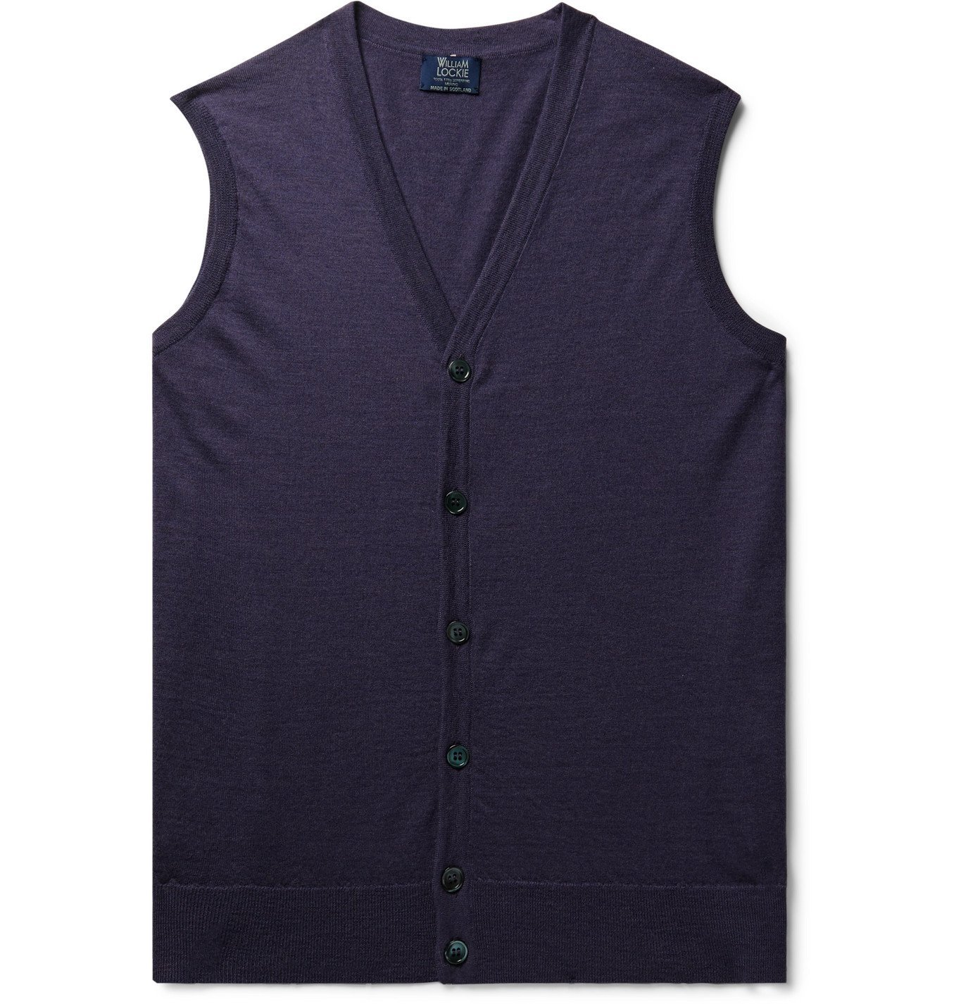 Photo: William Lockie - Slim-Fit Super 170s Virgin Wool Sweater Vest - Purple