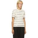 3.1 Phillip Lim Off-White and Black Rib Striped T-Shirt