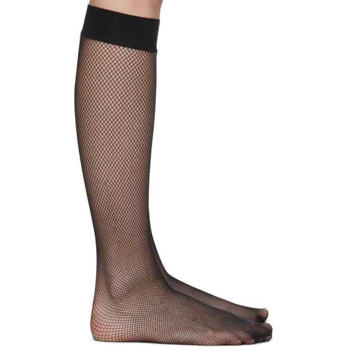 Photo: Wolford Black Twenties Knee-High Socks