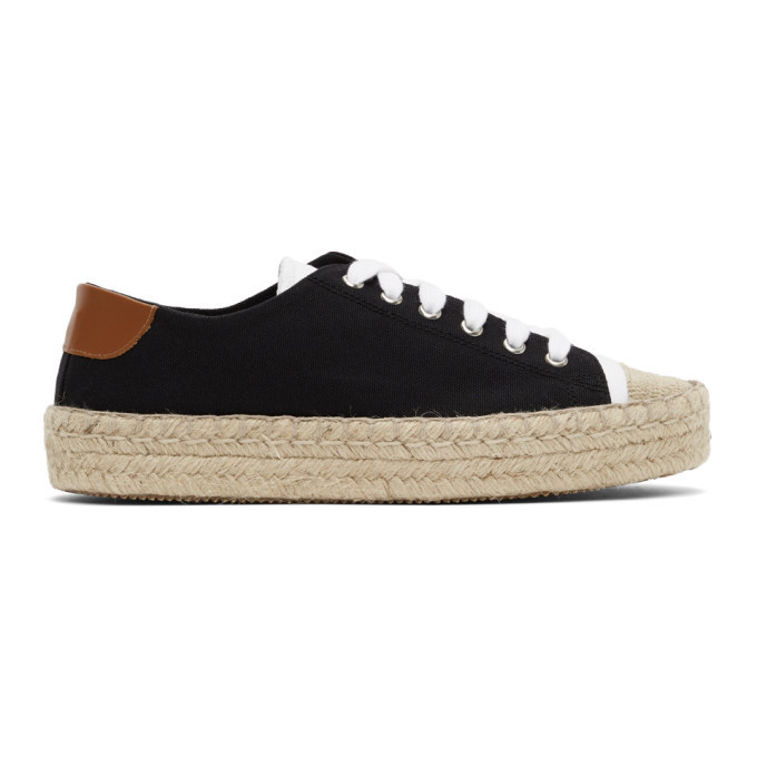 Photo: JW Anderson Black and White Espadrille Sneakers