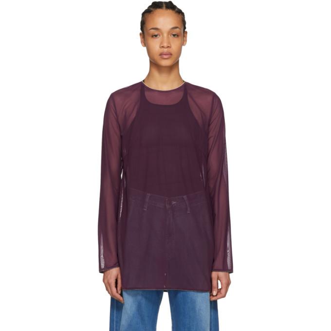 Acne Studios Purple Musah Tulle T-Shirt