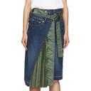 Sacai Blue Denim Skirt