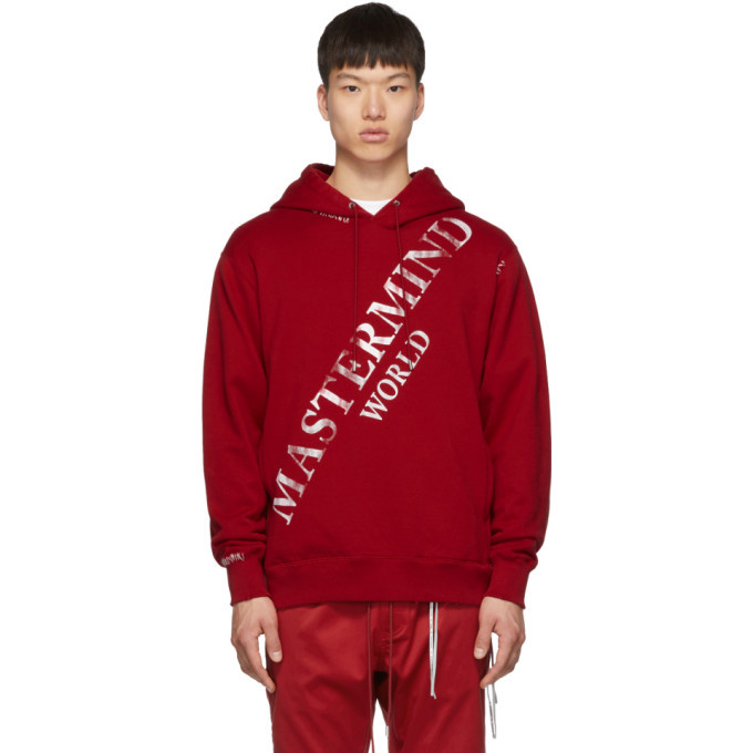 Photo: mastermind WORLD Red Faded Logo Hoodie