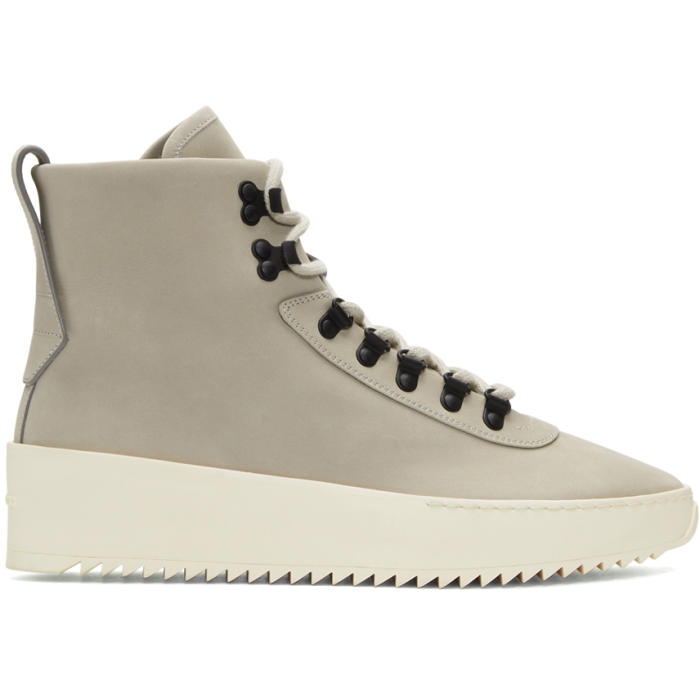 Photo: Fear of God Grey Nubuck Hiking Sneaker Boots