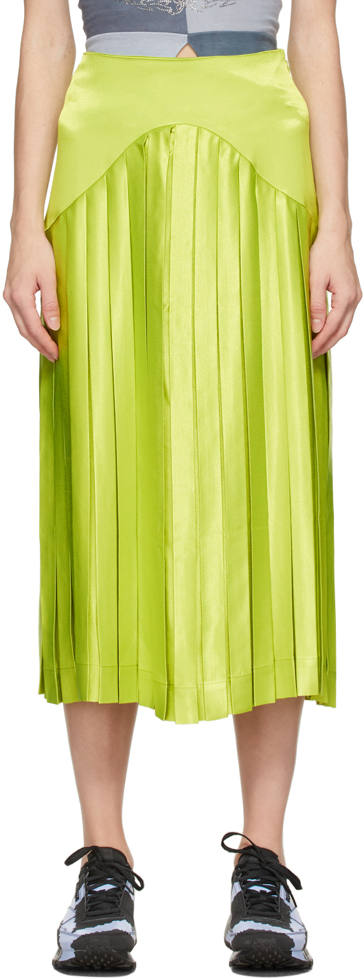 Photo: Collina Strada SSENSE Exclusive Green Mariposa Skirt