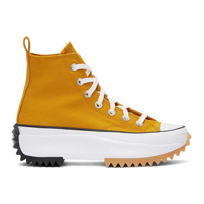 Photo: Converse Orange Run Star Hike High-Top Sneakers