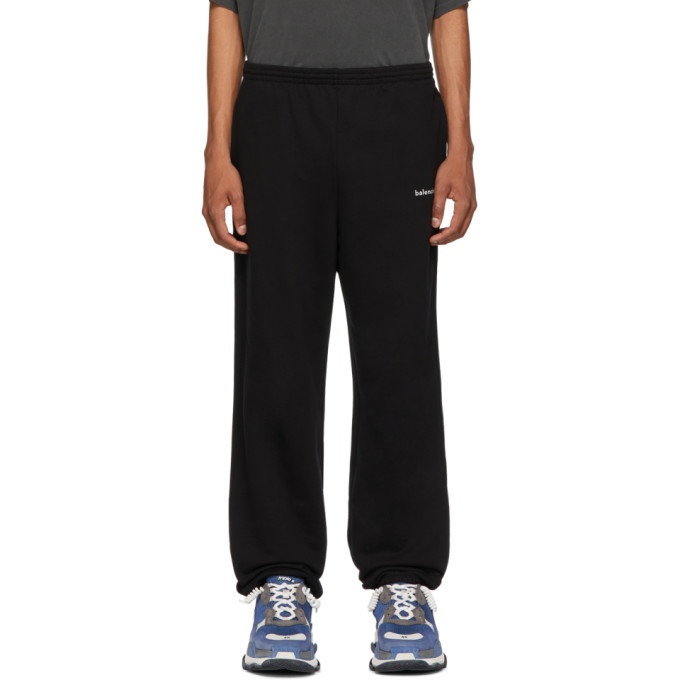 Photo: Balenciaga Black Logo Lounge Pants