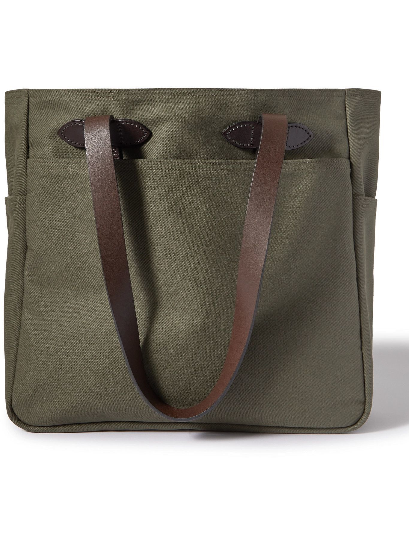 Photo: FILSON - Leather Trimmed Cotton-Twill Tote