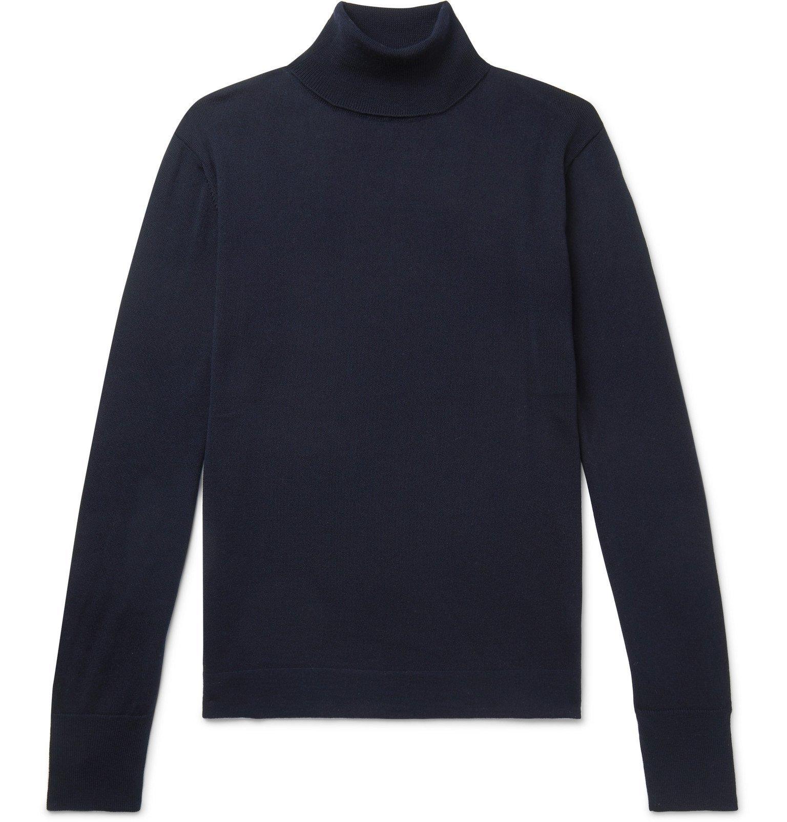 Officine Generale - Nina Virgin Wool Rollneck Sweater - Blue