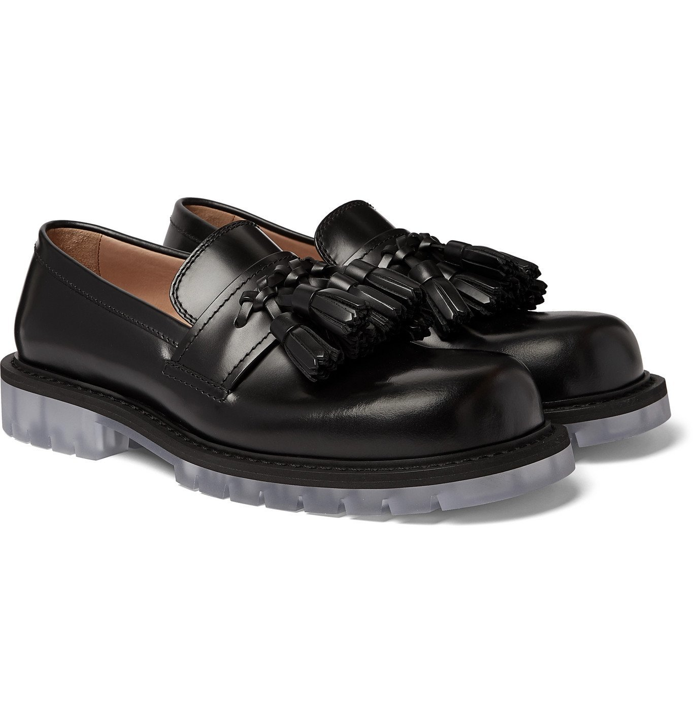 Photo: Bottega Veneta - Polished-Leather Tasselled Loafers - Black