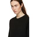 3.1 Phillip Lim Black Faux Plait Silk Cocoon Sweater