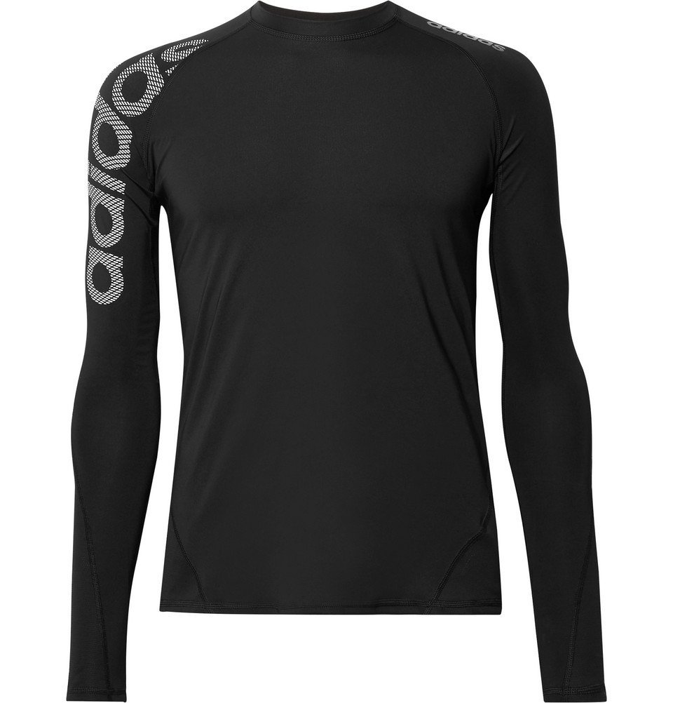 Adidas Sport - Alphaskin Badge of Sport Climacool and Mesh Compression T-Shirt - Black