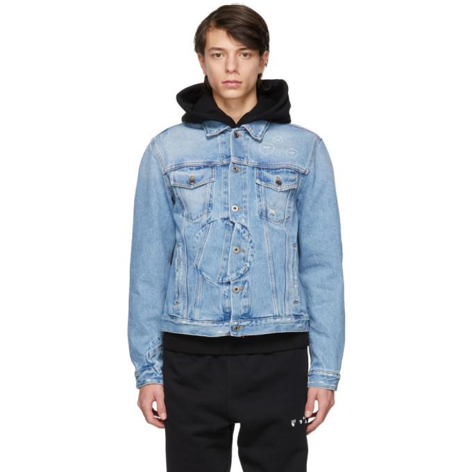 Photo: Off-White Blue Twisted Denim Jacket