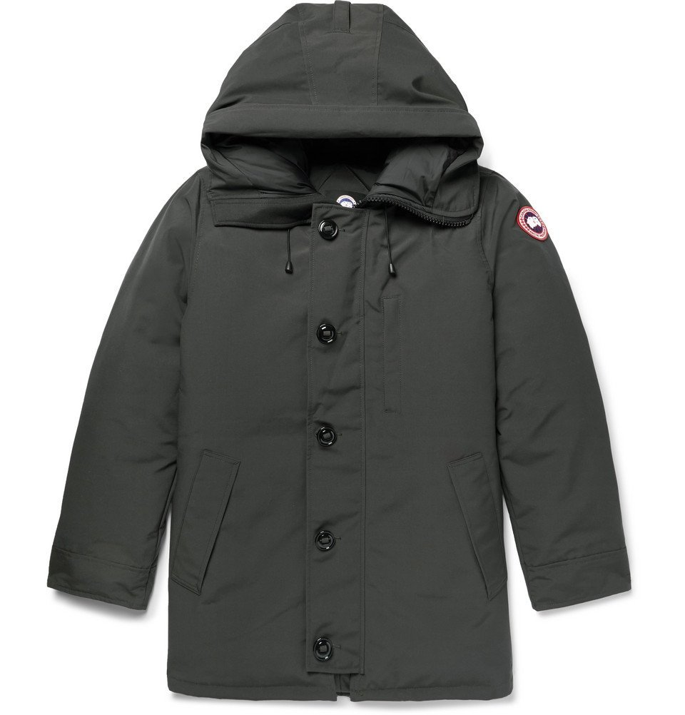 Photo: Canada Goose - Chateau Shell Hooded Down Parka - Charcoal