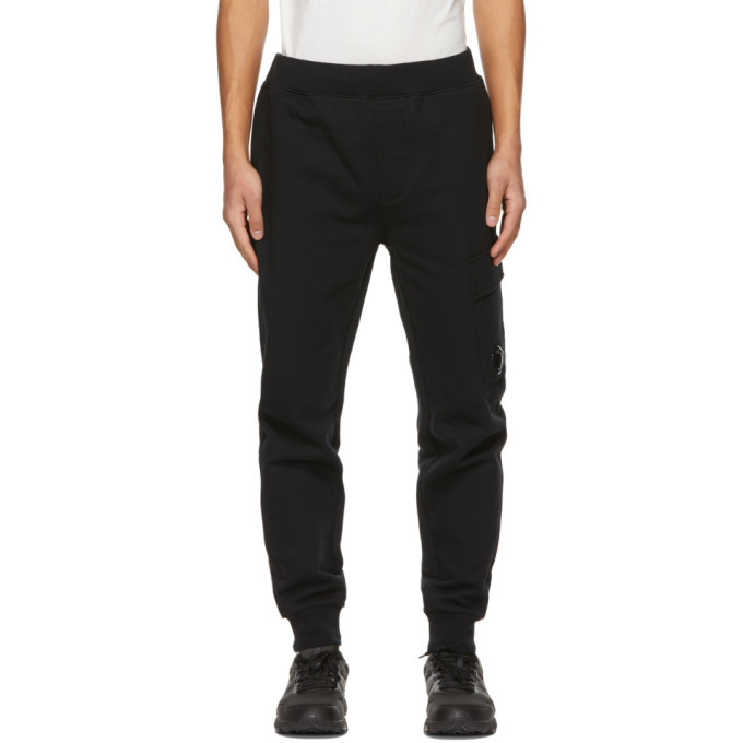 Photo: C.P. Company Black Diagonal Raised Lounge Pants