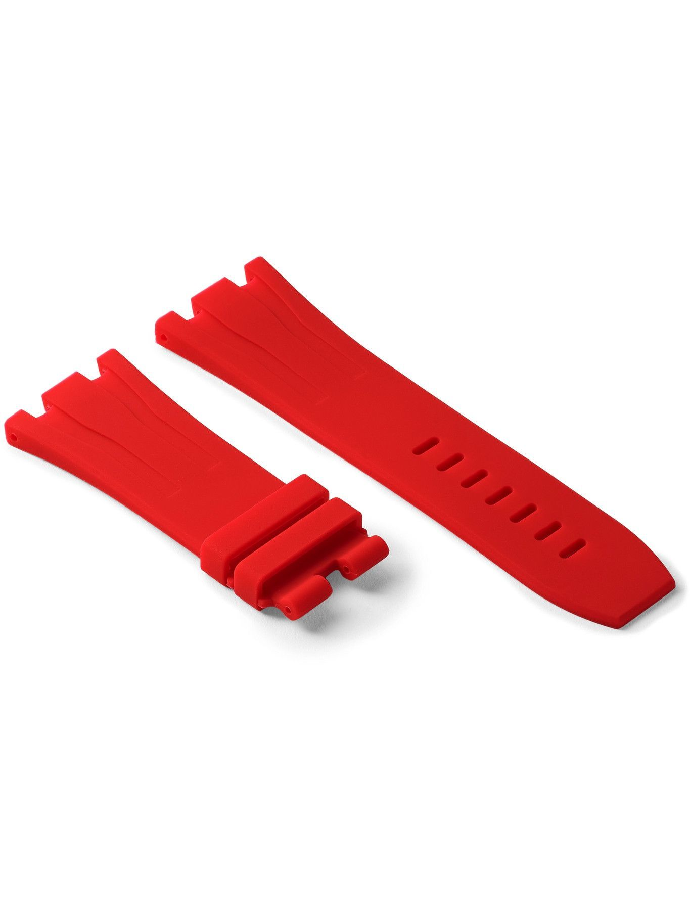Photo: Horus Watch Straps - Tang 44mm Rubber Watch Strap - Red