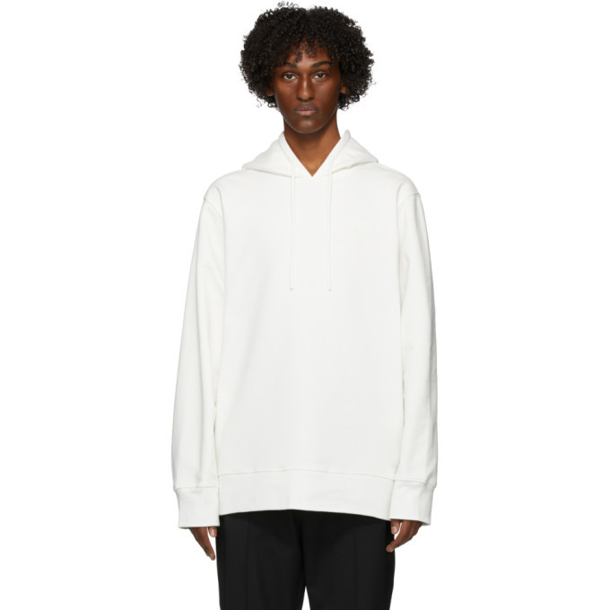 Photo: Y-3 White Graphic Hoodie