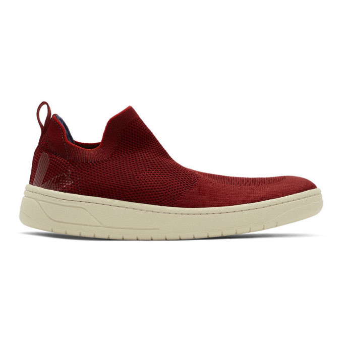 Photo: Lemaire Red Veja Edition Aquashoe V-Knit Bastille Sneakers