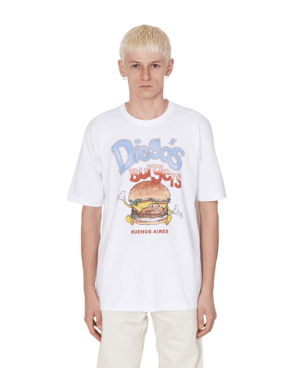 Photo: Junya Watanabe Man Diego's Burgers T Shirt White/Black