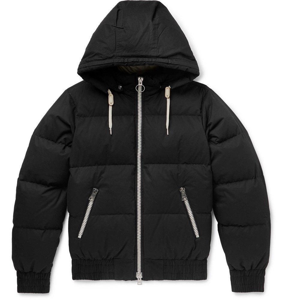 Photo: AMI - Quilted Cotton-Shell Hooded Down Jacket - Black