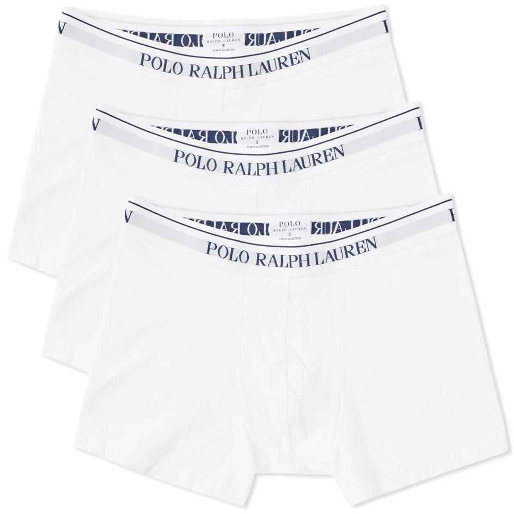 Photo: Polo Ralph Lauren Cotton Trunk - 3 Pack White