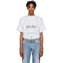 Aries White Multicolor Logo T-Shirt