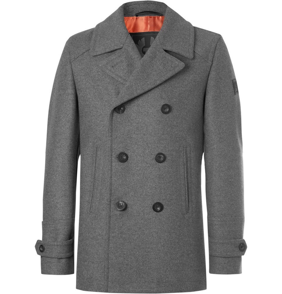 Belstaff - Duran Double-Breasted Virgin Wool-Blend Overcoat - Men - Gray