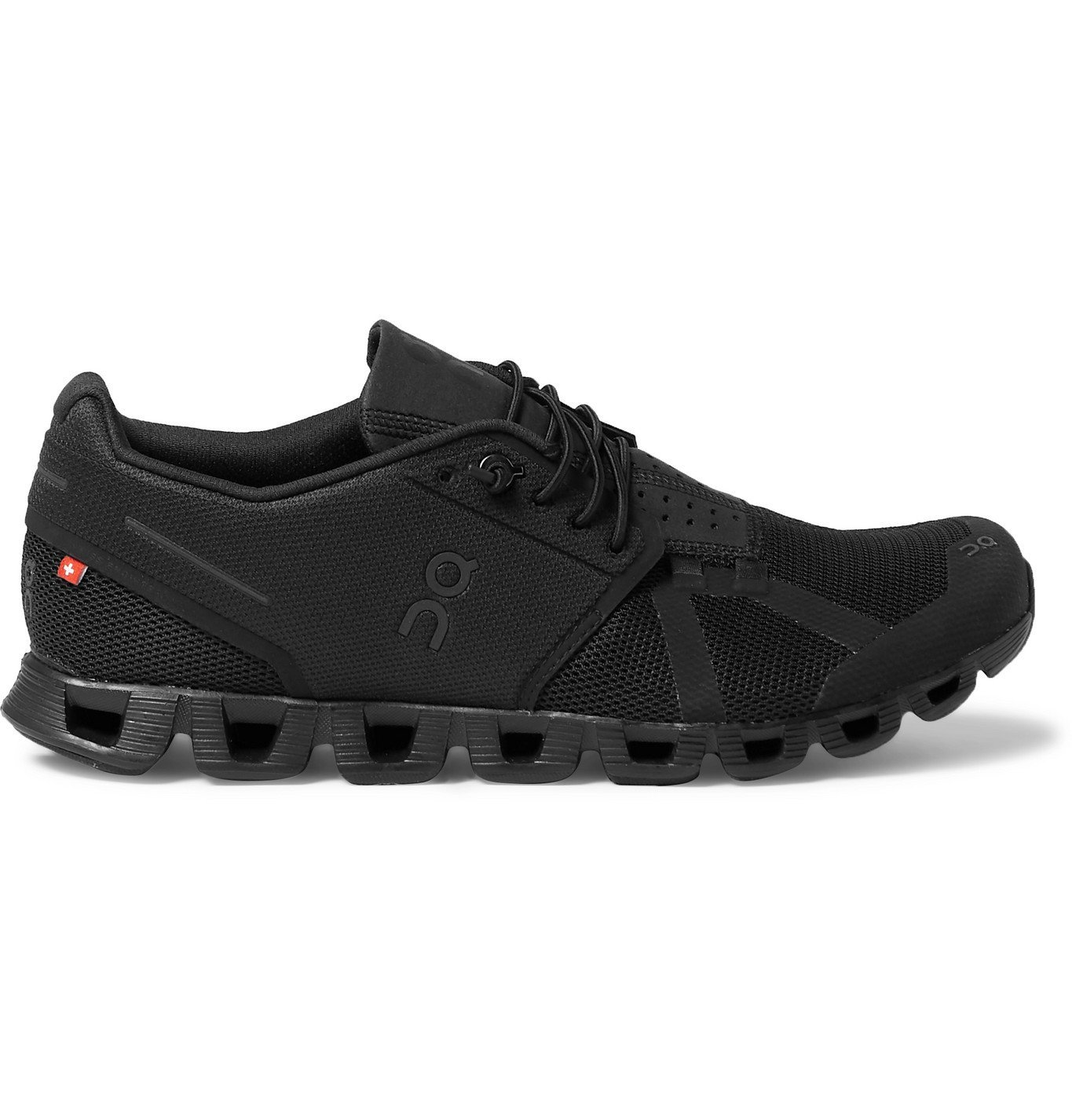 Photo: On - Cloud Rubber-Trimmed Mesh Running Sneakers - Black