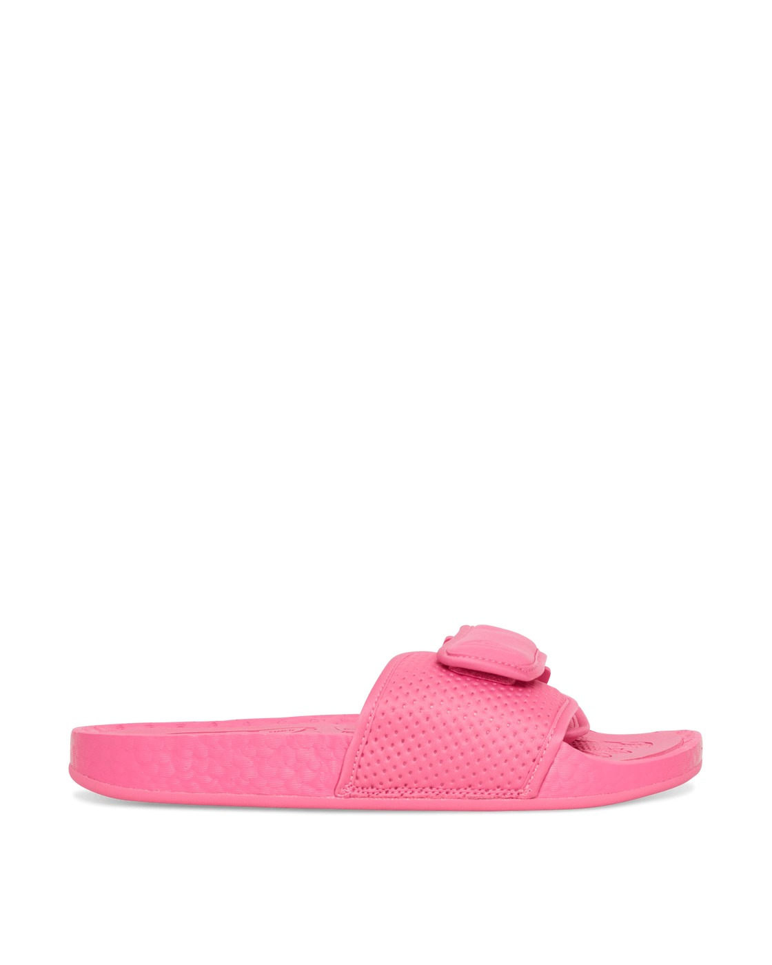 Photo: Adidas Originals Pharrell Williams Boost Slides Semi Solar Pink