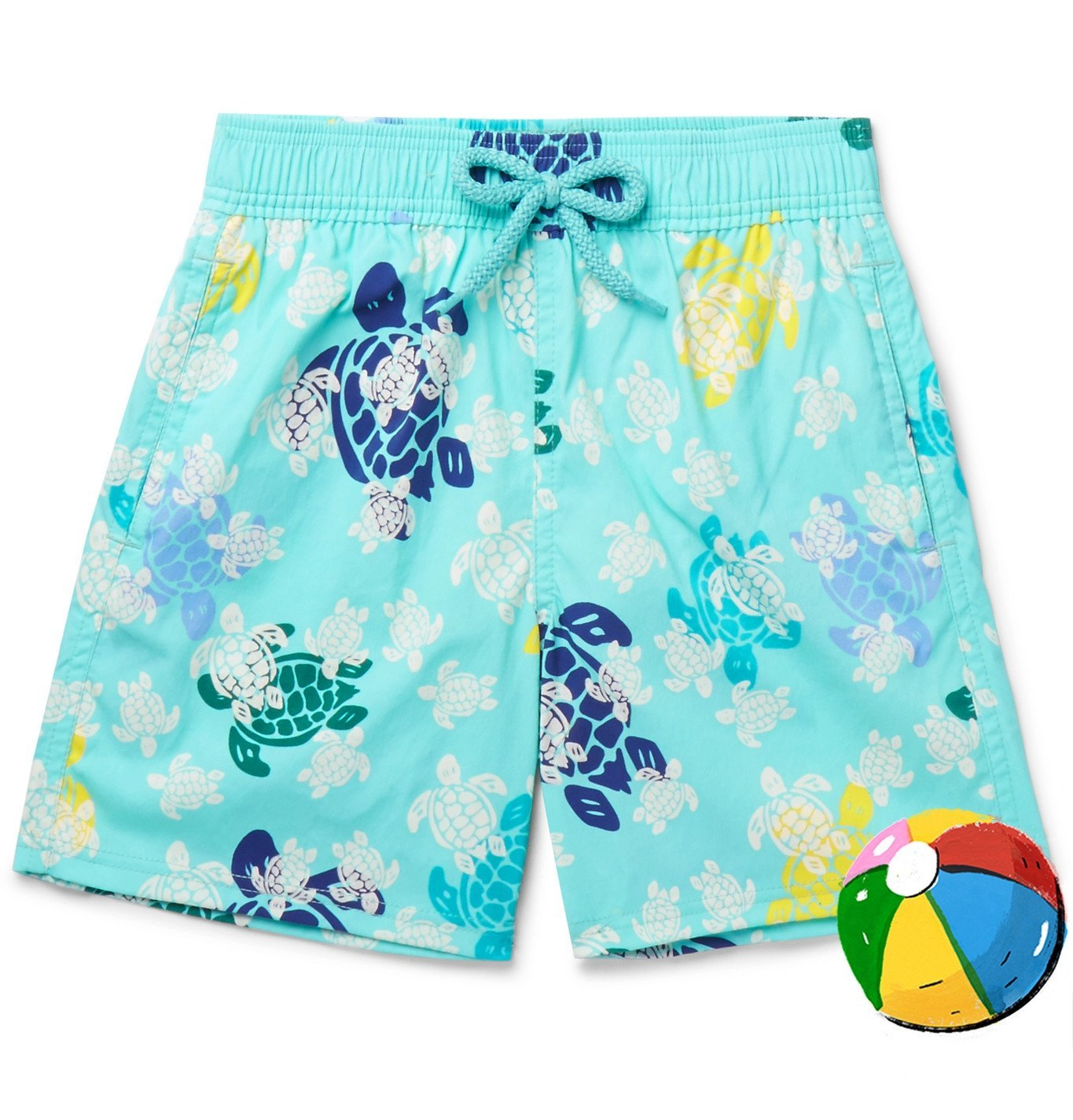 Photo: Vilebrequin - Boys Ages 10 - 12 Jim Glow-in-the-Dark Printed Swim Shorts - Blue