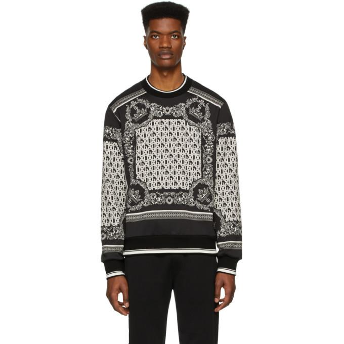 Photo: Dolce and Gabbana Black and White Bandana Sweatshirt