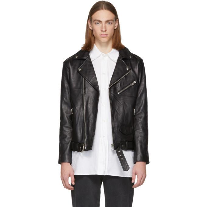 Photo: Stolen Girlfriends Club Black Leather Joey Biker Jacket