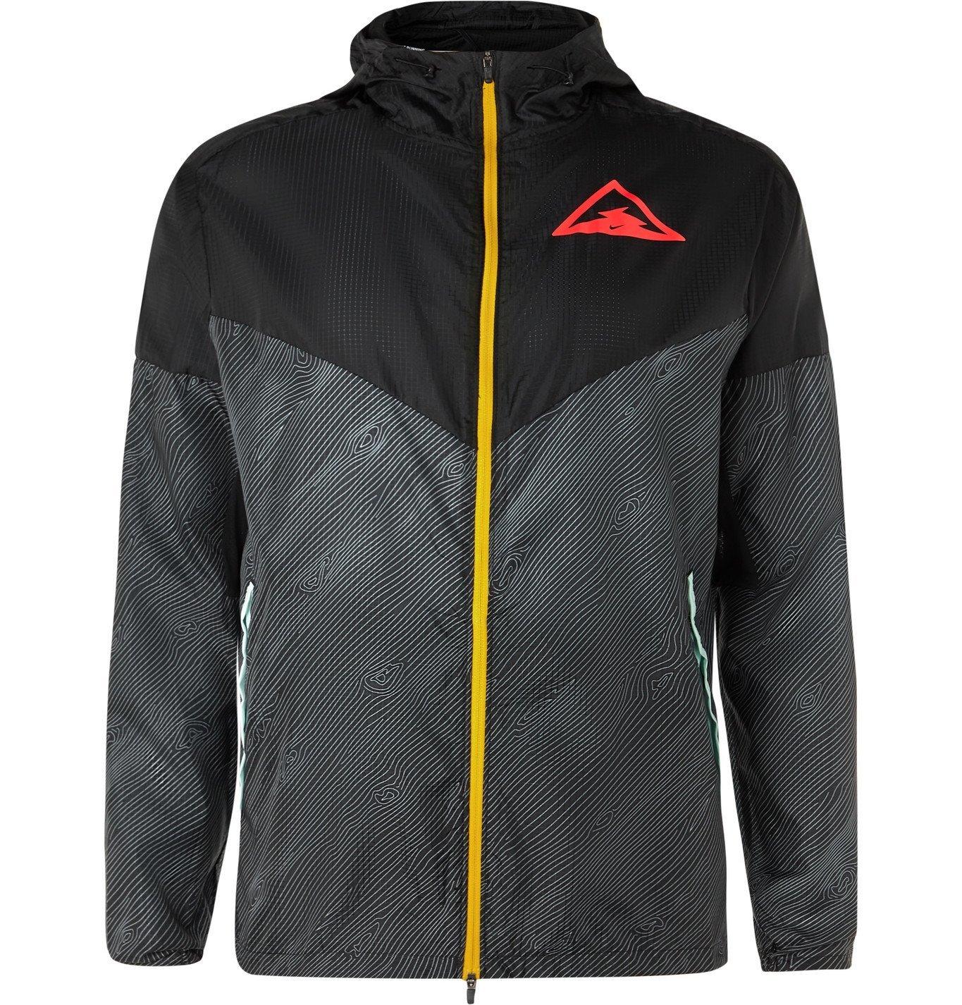 Nike Running - Windrunner Logo-Print Ripstop Hooded Jacket - Black