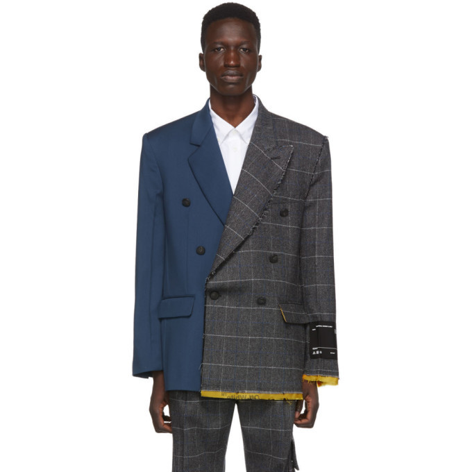 Photo: Off-White Multicolor Reconstructed Blazer