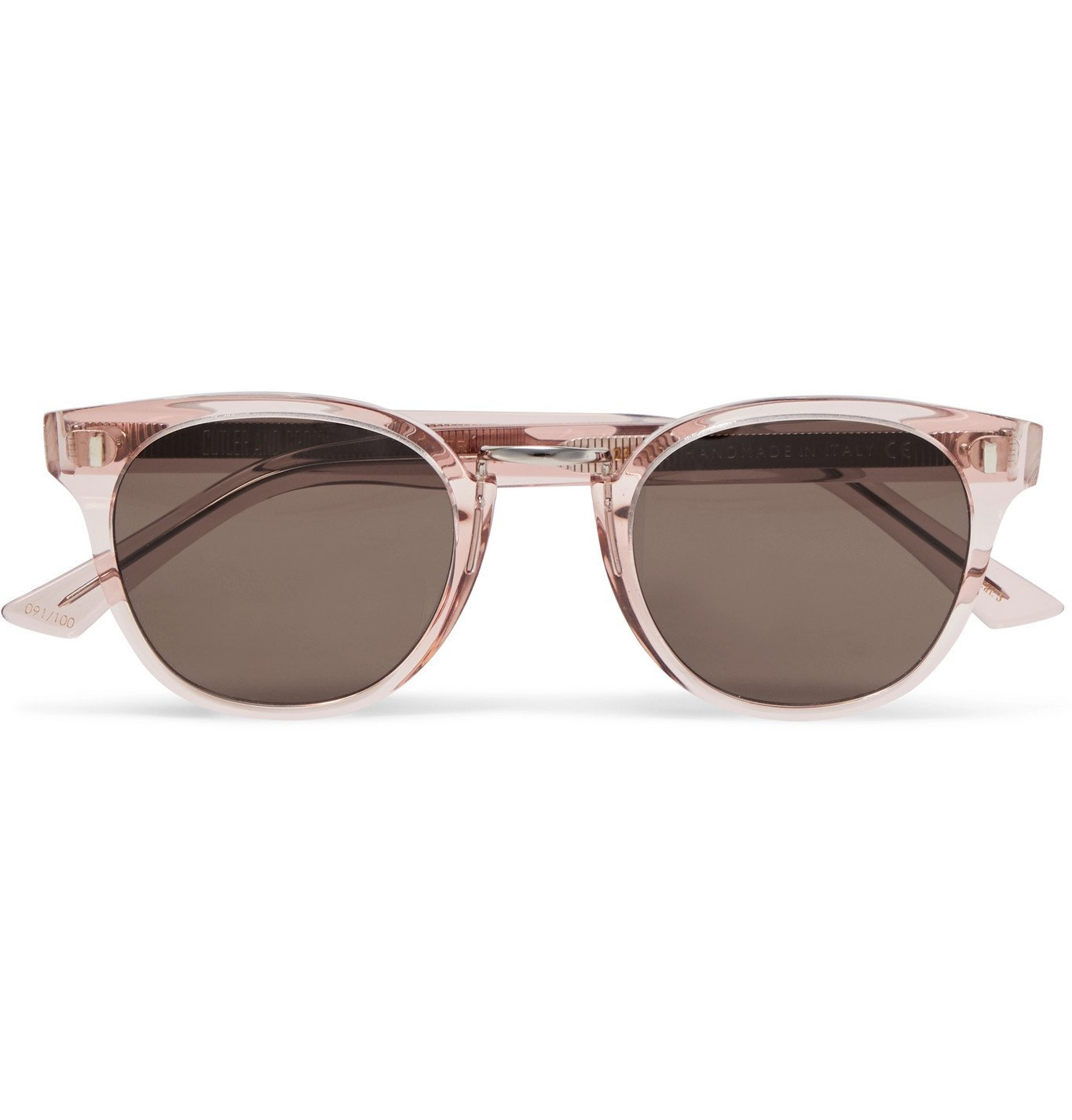 Photo: Cutler and Gross - Round Frame Acetate Sunglasses - Pink