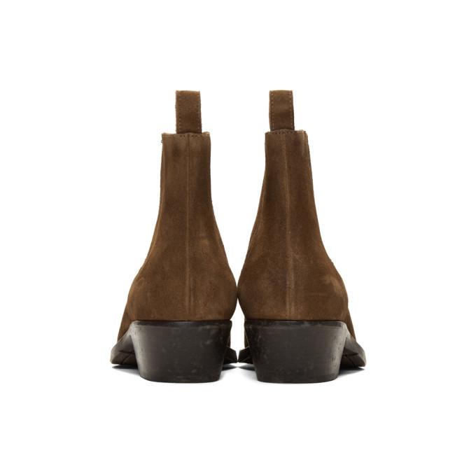 456c64712fb9 Saint Laurent Brown Suede Dakota Chelsea Boots Saint Laurent