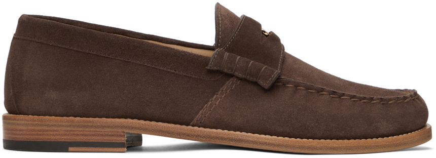 Photo: Rhude Brown Suede Penny Loafers