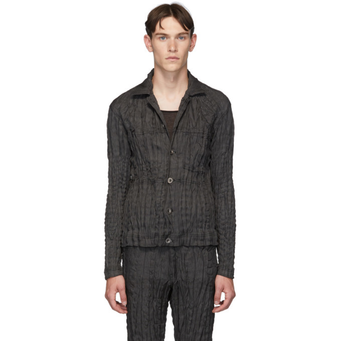 Photo: Issey Miyake Men Black Denim Torus Jacket