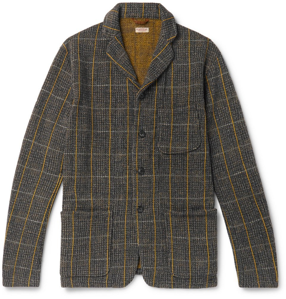 KAPITAL - Fleece-Back Cotton-Blend Tweed Jacket - Men - Gray